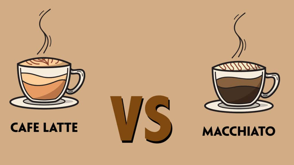 caffe latte and macchiato