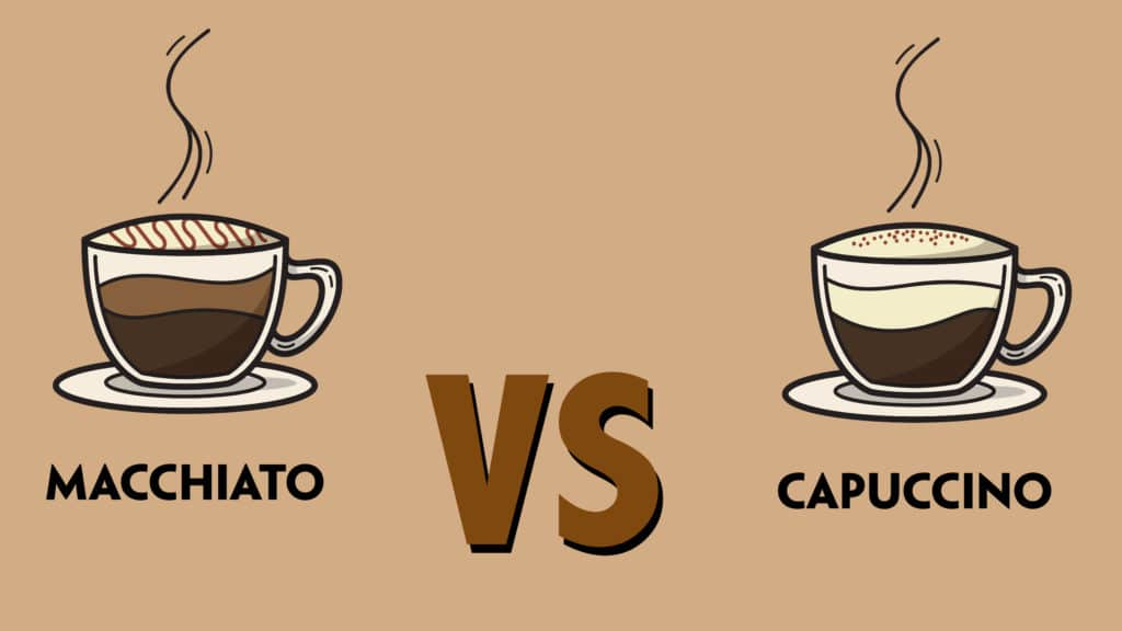 Different between caffe latte and macchiato