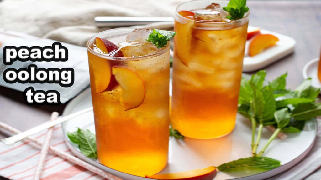 how to make peach oolong tea